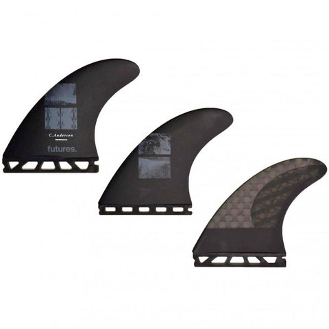 Futures Fins Ando Blackstix 3.0 Large Thruster Black Fins 4505434 - SURF WORLD Florida