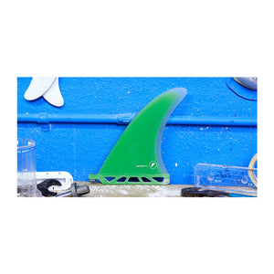 "Futures Machado Fiberglass Single 7.5"" Fin - Green Clear SURF WORLD"