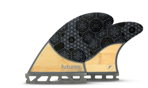 Futures Rasta HC Quad Fins - Bamboo Grey - SURF WORLD Fort Lauderdale Florida