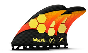 Futures AM2 Techflex 5-Fin Setup - Orange/ Red SURF WORLD