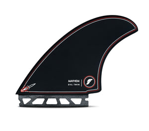Futures Mayhem Evil Twin Fin Set 2 + 1 Black