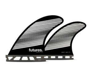 Futures Legacy F4 Quad Surfboard Fins - Black White SURF WORLD