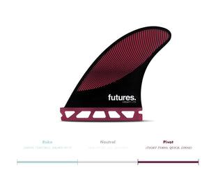 Futures Legacy Series P4 Pivot Surfboard Fins - Burgundy SURF WORLD