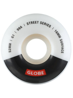 Globe G1 Street Wheel 52mm 99a Skateboard Wheels - White