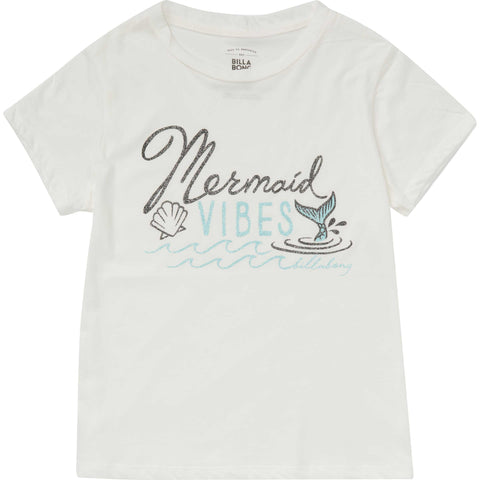 Billabong Girls Mermaid Vibes Tee Cool Whip