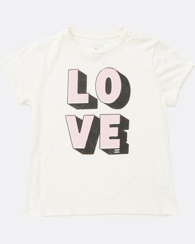 Billabong Girls Love Tee White