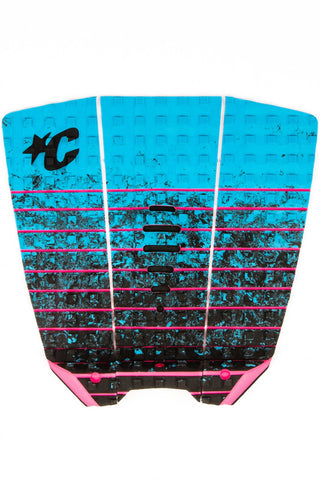 Creatures Of Leisure Mick Eugene Fanning Surfboard Traction Pad - Cyan Fade Pink