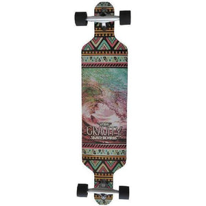 Gravity Pop Barrel Drop Longboard Complete Skateboard 41""
