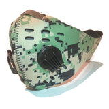 Face Mask with KN95 removable filter and exhale valves - Digital Green Camo