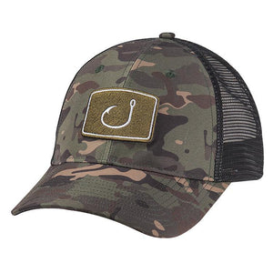 Avid Iconic Fishing Trucker Hat - Green Camo