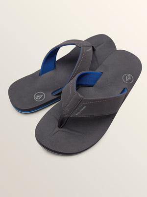 Volcom Victor Mens Sandal - Gunmetal Grey SURF WORLD