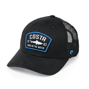 Costa Chatham Shark Trucker Hat - Black or Navy SURF WORLD