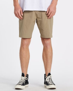 Billabong Surftrek Heather Performance Walkshort - Khaki Heather