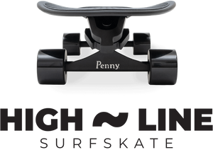 Penny Highline Surf Skate Skateboard- Blackout