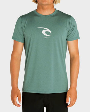 Rip Curl Icon SS Mens Rashguard - Aqua SURF WORLD