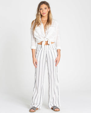 Billabong New Wave Stripe Pant - White Stripe SURF WORLD