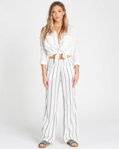 Billabong New Wave Stripe Pant - White Stripe