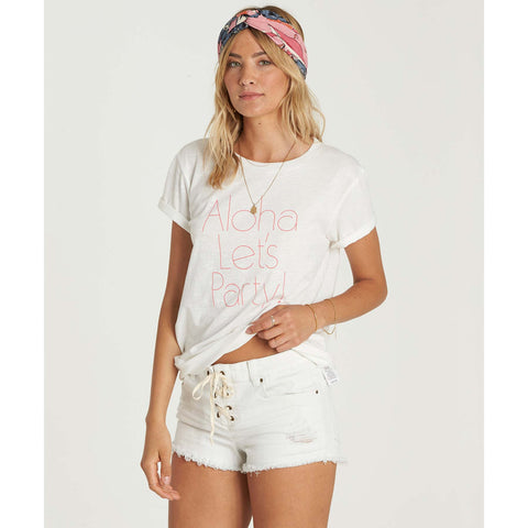 Billabong Aloha Party Tee Cool Whip Off White