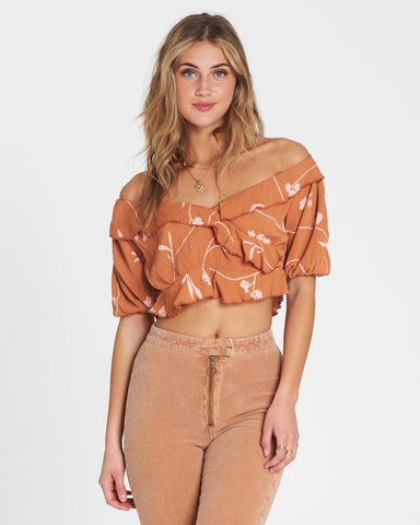 Billabong Babe Time Crop Top Toffee