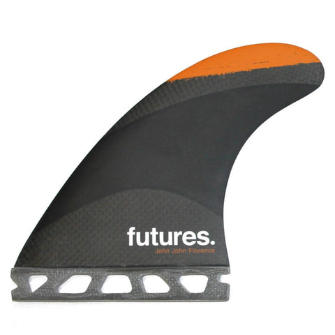 Futures Fins John John Florence Medium Techflex Orange Yellow Grey Thruster Fins 5555461 - SURF WORLD Florida