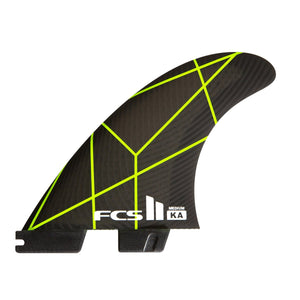 FCS II Kolohe Andino PC Medium Thruster Fins - Grey Yellow SURF WORLD