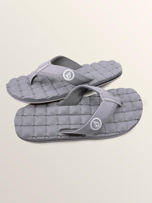 Volcom Recliner Mens Sandal - Light Grey SURF WORLD