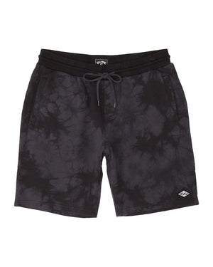 Billabong Wave Washed Sweat Shorts - Black Tye Dye