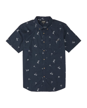 Billabong Sundays Mini SS Button Down Shirt - Navy
