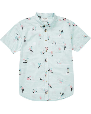 Billabong Sundays Mini Short Sleeve Shirt - Mint