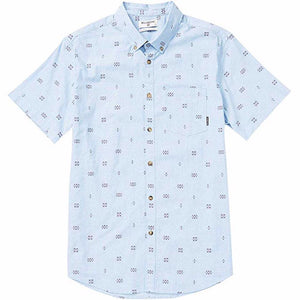 Billabong Sundays Mini Printed SS Mens Woven Shirt - Light Blue SURF WORLD