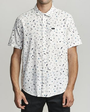 RVCA SS CALICO BUTTON-UP SHIRT - Antique White
