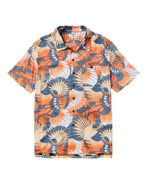 Sundays Vacay Printed Short Sleeve Shirt Orange SURF WORLD