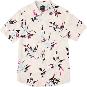 RVCA Moonflower Button Up Shirt Rosewater SURF WORLD