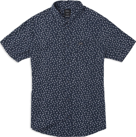 RVCA Ficus Floral Men's Woven Shirt - Federal Blue