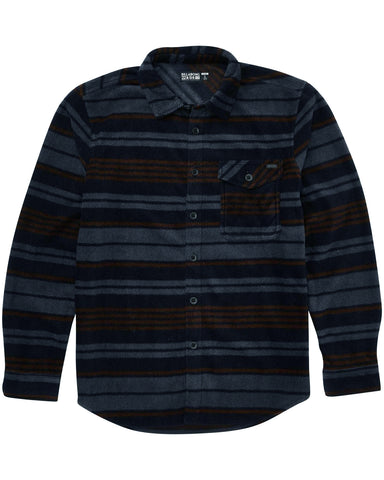 Billabong Furnace Flannel Polar Fleece Flannel Shirt - Navy / Blue