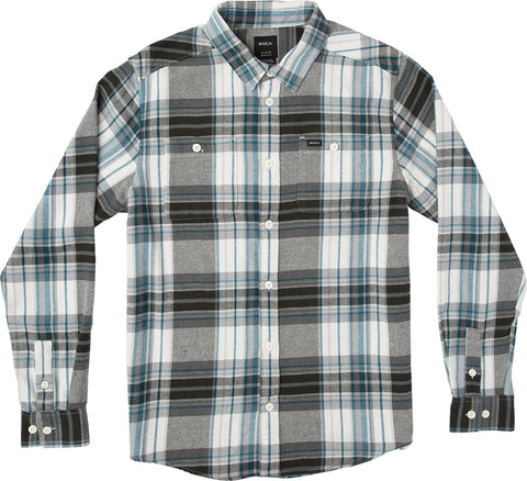 RVCA Ludlow Flannel Shirt LS - Antique White
