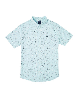 RVCA Elegie Floral SS Shirt  - Blue Haze SURF WORLD