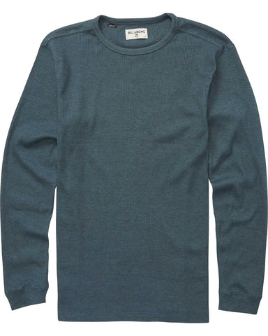 Billabong Essential Thermal Long Sleeve Crew Neck - Dark Slate