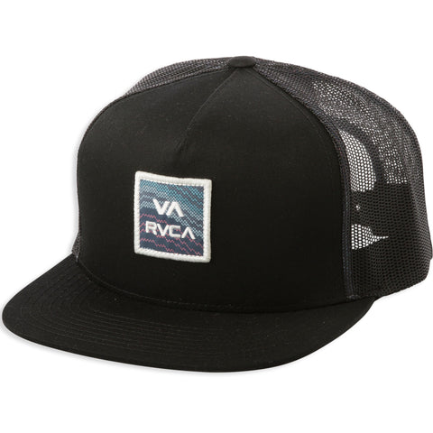 RVCA VA All The Way Trucker Hat - BML  Black Multi
