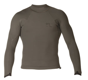 XCEL MEN'S DRYLOCK 2MM L/S 2018 - Charcoal SURF WORLD
