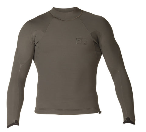 XCEL MEN'S DRYLOCK 2MM L/S 2018 - Charcoal