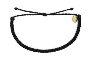 Pura Vida Mini Braided Solid Bracelet - Black SURF WORLD