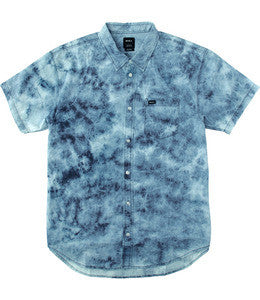 RVCA Acid Rain SS Woven - Indigo Blue - SURF WORLD Florida