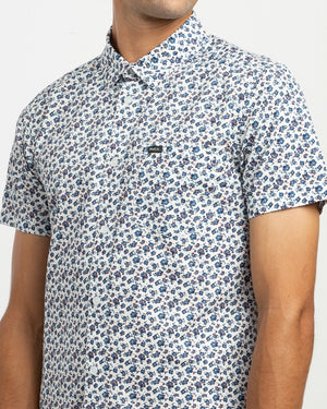 RVCA Porcelain Men's SS Woven Shirt - Antique White SURF WORLD