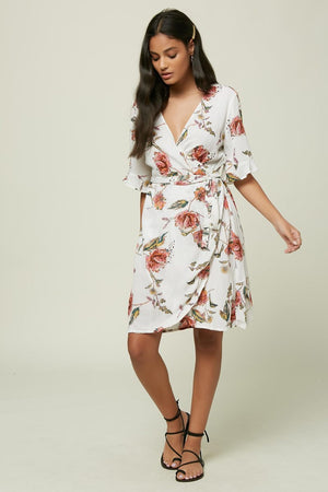 Oneill Molly Floral Dress -Winter White