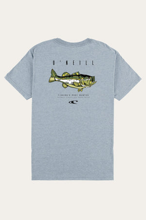 O'Neill Most Wanted Tee - Light Blue Heather - Bass - White Tarpon SURF WORLD