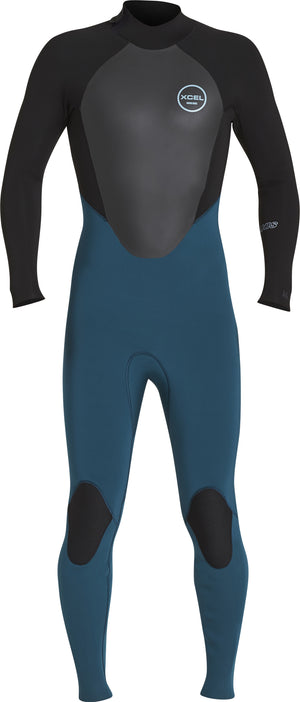 Xcel Axis 3/2 Backzip Fullsuit FA17 - Spruce Black SURF WORLD