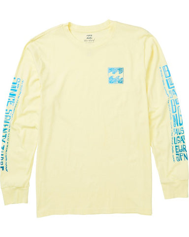 Billabong Boundry Long Sleeve T-shirt Lemon