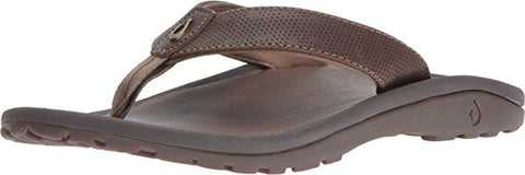 Olukai Men's Kupuna Leather Sandals - Mustang/ Mustang