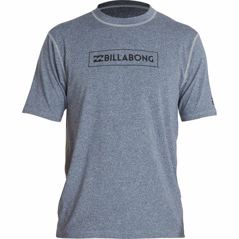 Billabong Men's All Day Unity Sunshirt / Rashguard - Blue Heather - SURF WORLD Fort Lauderdale Florida